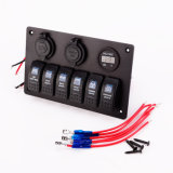 Painel do interruptor da montagem do adaptador do carregador da potência de Voltmeter+Cigarette Socket+USB