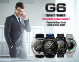 Hot No. 1 G6 Bluetooth 4.0 Smartwatch Monitor de ritmo cardíaco Psg Smart Watch Control remoto de sueño Monitor de reloj de pulsera para Android Ios Smart Phone Negro TPU Correa