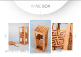Retro Craving Art Storaging Carbonized Bamboo Rectangle Wine Box