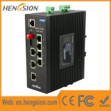 8 2 do SFP portas do megabit e controlaram o interruptor industrial do Ethernet