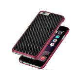 多彩なカーボンファイバーのiPhoneのための電気めっきのパソコンの電話箱6 6s