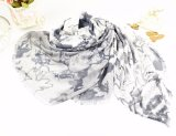 Bufanda china de Monochromes del estilo modal de la pintura hermosa del 100%
