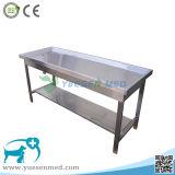 Tabela de dissecação veterinária médica do aço inoxidável de animal de animal de estimação 304