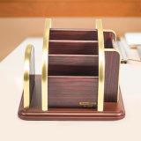 Sostenedor de múltiples funciones de madera movible del almacenaje para el uso casero con el chasis