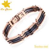 Bracelet classique de diamant de Mens d'acier inoxydable