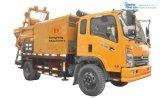 Doppia l'asta cilindrica diesel di condizione di lavoro & elettrica multifunzionale dura ha forzato la betoniera montata camion mobile con la pompa