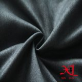 Gris oscuro Moda 100% poliéster tela del ante de ropa / vestido