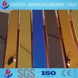 304 hojas de acero inoxidables inoxidables estándar coloridas de la hoja de acero de ASTM