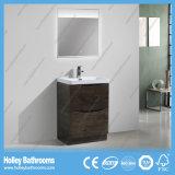 Suelo moderno del estilo - vanidad montada del cuarto de baño con la lámpara del LED (BF317D)