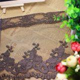 Merletto netto di nylon della maglia di immaginazione della guarnizione del poliestere del merletto del filetto dell'oro del ricamo di larghezza del commercio all'ingrosso 21cm delle azione delle fabbriche del ricamo per l'accessorio dell'abito & le tessile domestiche