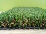 安い景色の屋外の人工的な草のカーペットの合成物質の泥炭