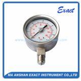 Bordone Misurare-Meccanico di pressione riempito liquido Tupe-Tutto manometro degli ss