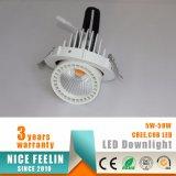 Alta calidad 360 cardán horizontal LED Downlight de la ajustabilidad 35W de la rotación del grado