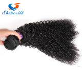 Человеческие волосы Weave монгольского Afro Kinky курчавые связывают естественный черный цвет волосы 10-24inch Non-Remy 1 части