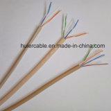 Câble téléphonique Cat3 plat avec 3 twisteds pairs (jupe de PVC/LSOH)