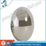 De gran tamaño de acero inoxidable Half Hollow bola con el agujero de rosca