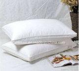 Oreiller personnalisé en plumes en coton blanc plombé