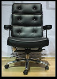 Hotel / Escritório Classic High Back Wooden Leather Swivel Lift Boss Chair (6207)