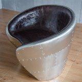 Retro 여가 다락 산업 작풍 의자 알루미늄 가죽 의자 객실 의자