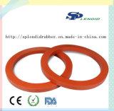 Arruela & gaxeta de borracha de selagem com cor vermelha FDA