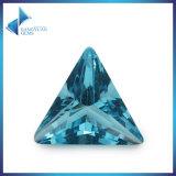 Trillion de pierre gemme en pierre en verre de bleu pour le bijou