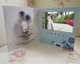 Tarjeta video 5inch del folleto de la tarjeta de felicitación del LCD de la invitación de encargo del precio bajo con alta calidad