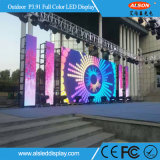 Pantalla de visualización al aire libre de LED del alquiler del fondo de etapa P3.91