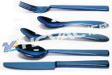 Forcelle dell'acciaio inossidabile, cucchiaio, strumentazione di titanio del rivestimento dell'oro del nitruro degli articoli per la tavola PVD