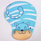 Almofada de rato do gel com gato azul