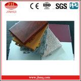 Ненесущая стена алюминия зерна высокого качества имитационная естественная деревянная