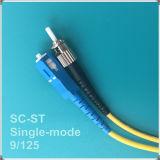 Cuerda de remiendo óptica de fibra del solo modo del St-Sc Upc