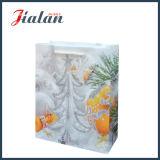 きらめきのクリスマスのショッピングギフト袋が付いている顧客用塗被紙