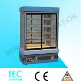 Réfrigérateur en verre droit/vertical d'étalage pour le gâteau