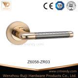 Röhrensicherheits-Tür-Verschluss-Griff auf quadratischer Rosette (Z6076-ZR13)