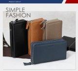 공장 도매 고품질은 남자를 위한 진짜 PU 가죽 핸드백을 자루에 넣는다