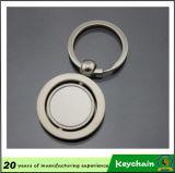 Keyring del espacio en blanco de la dimensión de una variable redonda del metal