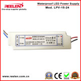 24V 0.63A 15W imperméabilisent IP67 l'alimentation d'énergie constante de la tension LED