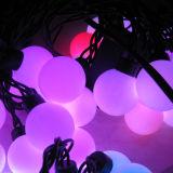 Luz branca da corda da esfera do Natal do diodo emissor de luz da cor com o diodo emissor de luz 20PCS de 5m