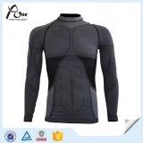 La termal de calidad superior del esquí de los hombres se divierte las camisas de la ropa interior