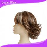 Parrucca sintetica dei capelli di breve colore della miscela