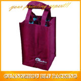 Красный изготовленный на заказ мешок вина бутылки печати 6 (BLF-NW134)