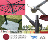 parasol de alumínio de suspensão do frame de 2.7m