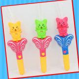 Jouet musical de traitement de chat en plastique avec la confiserie de sucrerie