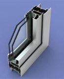 Ventana popular de la capa del polvo blanco abatible de aluminio