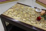 50cm Width Vinyl PVC Gold Lace Table Placemat in Roll (JFBD-022)