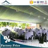 광저우에 있는 Silk Tent Linings를 가진 20mx30m Beautiful와 Luxury White Canvas Large Wedding Party Tents