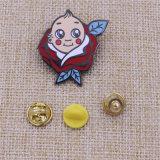 2015년 공장 가격 관례는 금속 접어젖힌 옷깃 Pin를 원조한다