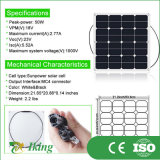 50W18V Sunpower Halb-Flexibler Sonnenkollektor für Sonnenenergie Ssytem