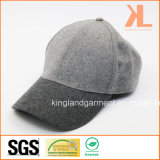 Бейсбольная кепка качества полиэфира & шерстей теплая обыкновенная толком серая
