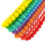 Le cordon masticable de mode de collier de bébé mou perle le collier de de démarrage de silicones